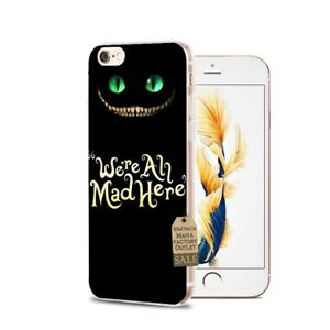 Alicia-en-el-Pais-De-Las-Maravillas-Gato-de-Cheshire-Funda-Iphone-5-6-6S-7-8-PLUS-X-Xr-Xs-Max
