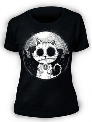 Afterlight Zombie Katze T-Shirt Damen Gothic Punk Rock Emo Kitty Alptraum