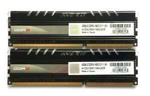 8GB-2-X-4GB-STICKS-MATCHED-SET-AVEXIR-CORE-RED-LEDs-DDR3-1600-RAM