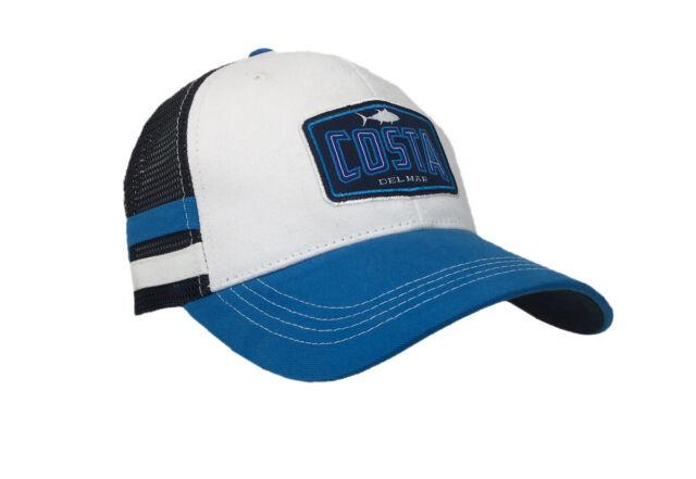 2ae7ce9025 Costa Del Mar Mens BIMINI Twill Mesh Hat-white Costa Blue and Navy ...