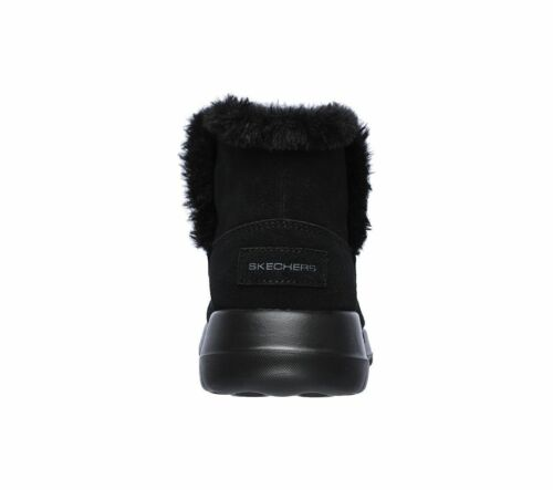 Lined Ankle go On On Fur Black the Boots Skechers Pull Joy Up bundle Womens Faux qH06PSnS