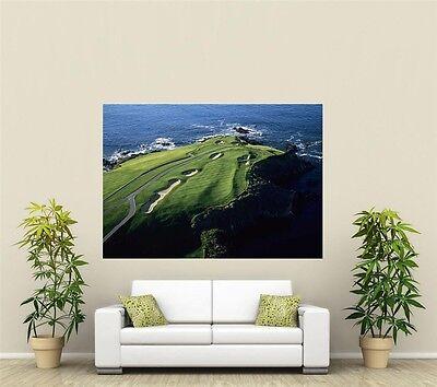Pebble Beach Golf Course Giant 1 Piece  Wall Art Poster SP204