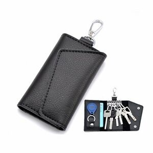 Men Women Leather Key Chain Pouch Case Wallet Coin Purse Card Holder ... 5bd18dc630
