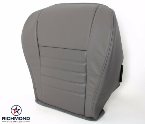 2000 Ford Mustang GT V8 Driver Side Bottom Replacement Leather Seat Cover Gray
