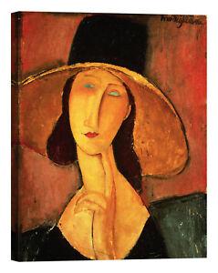 Amedeo-Modigliani-Jeanne-Hebuterne-Stampa-su-tela-Canvas-effetto-dipinto