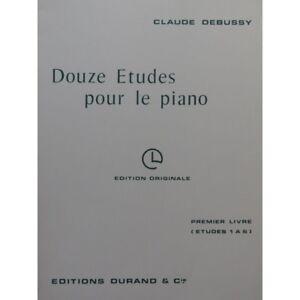 DEBUSSY-Claude-zwoelf-Studien-1er-Buch-fuer-le-Piano-Partitur-sheet-music-score