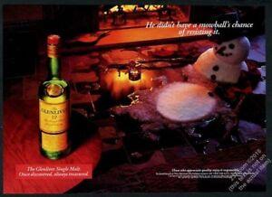 1996-Glenlivet-single-malt-Scotch-whisky-snowman-fireplace-photo-print-ad