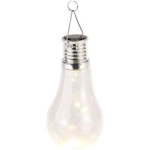 3 warmweiße LEDs 2 Lumen Lunartec 4er-Set Solar-LED-Lampen in Glühbirnen-Form