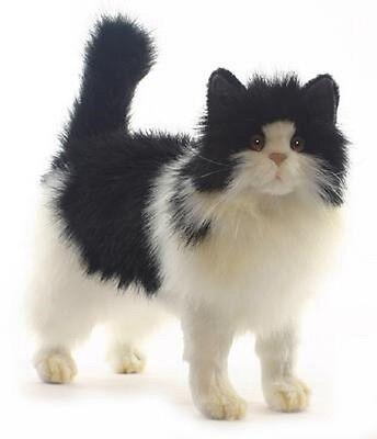 Hansa Toys Black And White Cat 4221 Plush Stuffed Animal Play Toy Decor New Gift