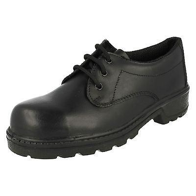 Totectors 2688 Black Leather Heat Resistant STEEL TOE Safety Work Shoes UK 13