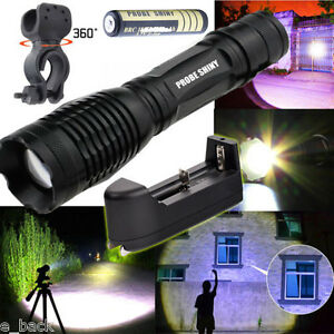 5000LM-XM-L-T6-LED-Tactical-Zoomable-Flashlight-Torch-Light-Lamp-Battery-Charger