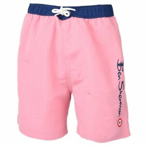 22411d4941ab Image is loading Designer-BEN-SHERMAN-Boys-Pink-Blue-Swim-Shorts-