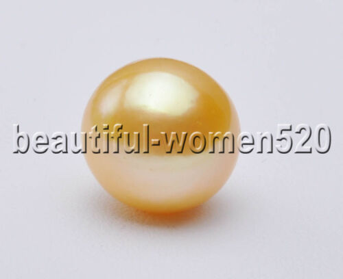 Z7482 13 mm Naturel Golden Round Edison Keshi reborn Pearl Loose Bead