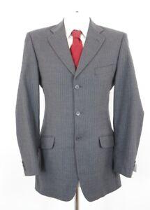 Marks & Spencer Anzug Gr.98 grau Nadelstreifen Einreiher 3-Knopf -C100