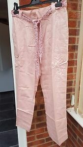 Super-Blush-Pink-Cropped-Trousers-Size-14-NWT