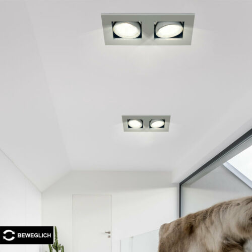 LED Decken Strahler verstellbar RGB Fernbedienung Dimmer ALU Flur Einbau Lampe
