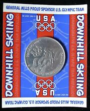 1998 USA GENERAL MILLS PROUD SPONSOR OLYMPIC TEAM DOWNHILL SKIING TOKEN - NAGANO