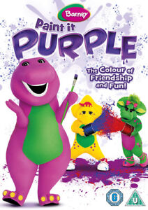 Barney-Paint-It-Purple-DVD-2014-Barney-the-Dinosaur-cert-U-NEW