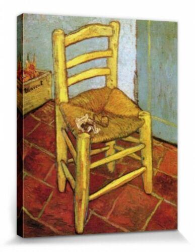 Vincents Stuhl Poster Leinwand-Druck Bild Vincent Van Gogh #55795 50x40cm