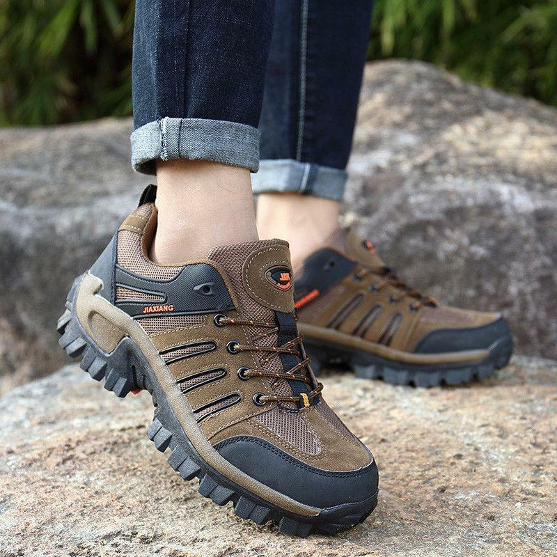 Men's Outdoor Hiking lace up Lightweight Sneaker for Walking Trekking shoes
