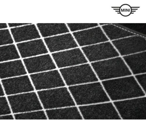 MINI 3-türer F56 Fussmatten hinten Essential Black Textil 51472354176 2354176