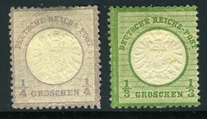 GERMANY-EMPIRE-SCOTT-14-15-MICHEL-16-17-MINT-HINGED-THIN-AS-SHOWN