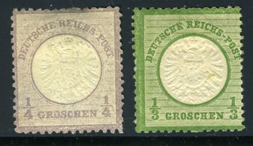 GERMANY EMPIRE SCOTT# 14-15 MICHEL# 16-17 MINT HINGED THIN AS SHOWN