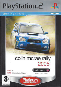 COLIN-MCRAE-RALLY-2005-for-Playstation-2-PS2-with-box-amp-manual-PAL