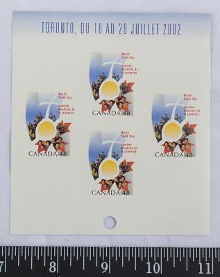 g25 Kanada Broschüre Welt Youth Tag Postfrisch Blatt Dauerhafte Modellierung