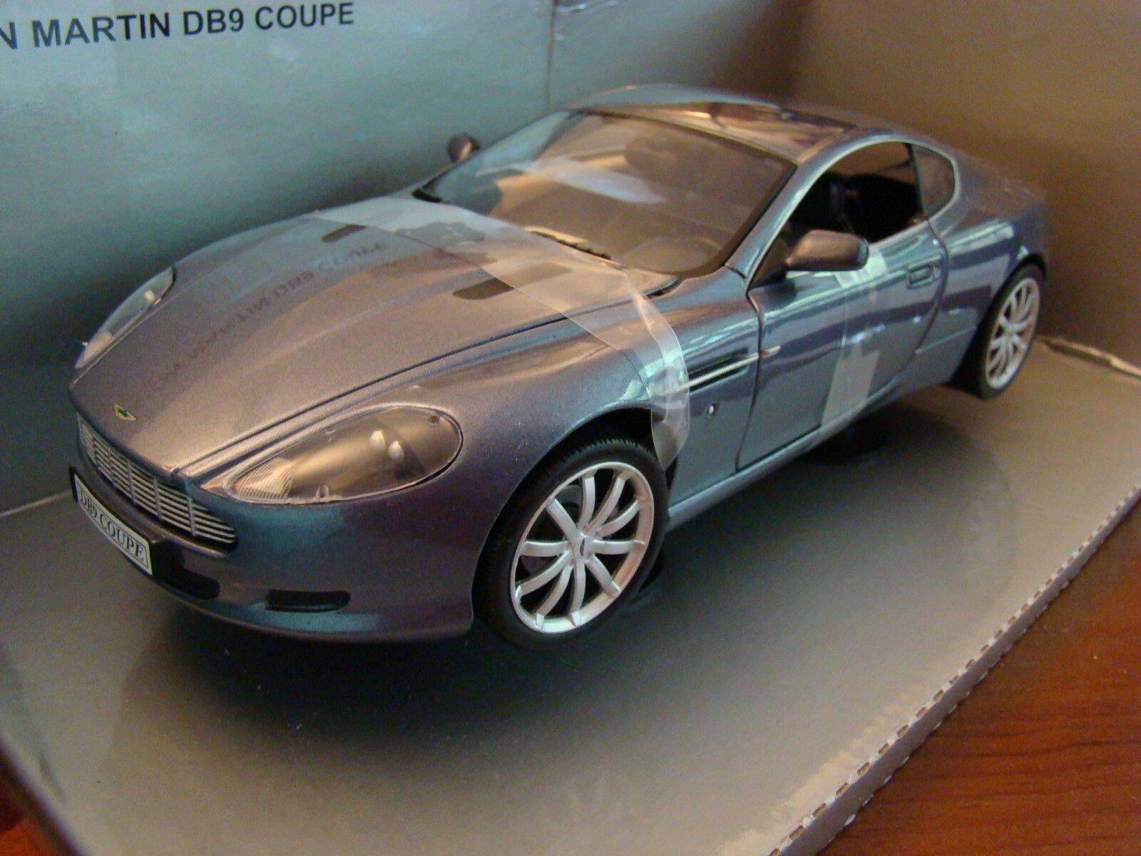1 18 Aston Martin DB9 Coupe 5.9 Litre V12 Grey bluee Rare