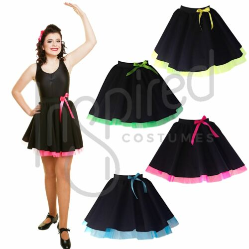 Filles Irlandais feis jupe Noir avec Filet Danse Costume Groupe De Danse