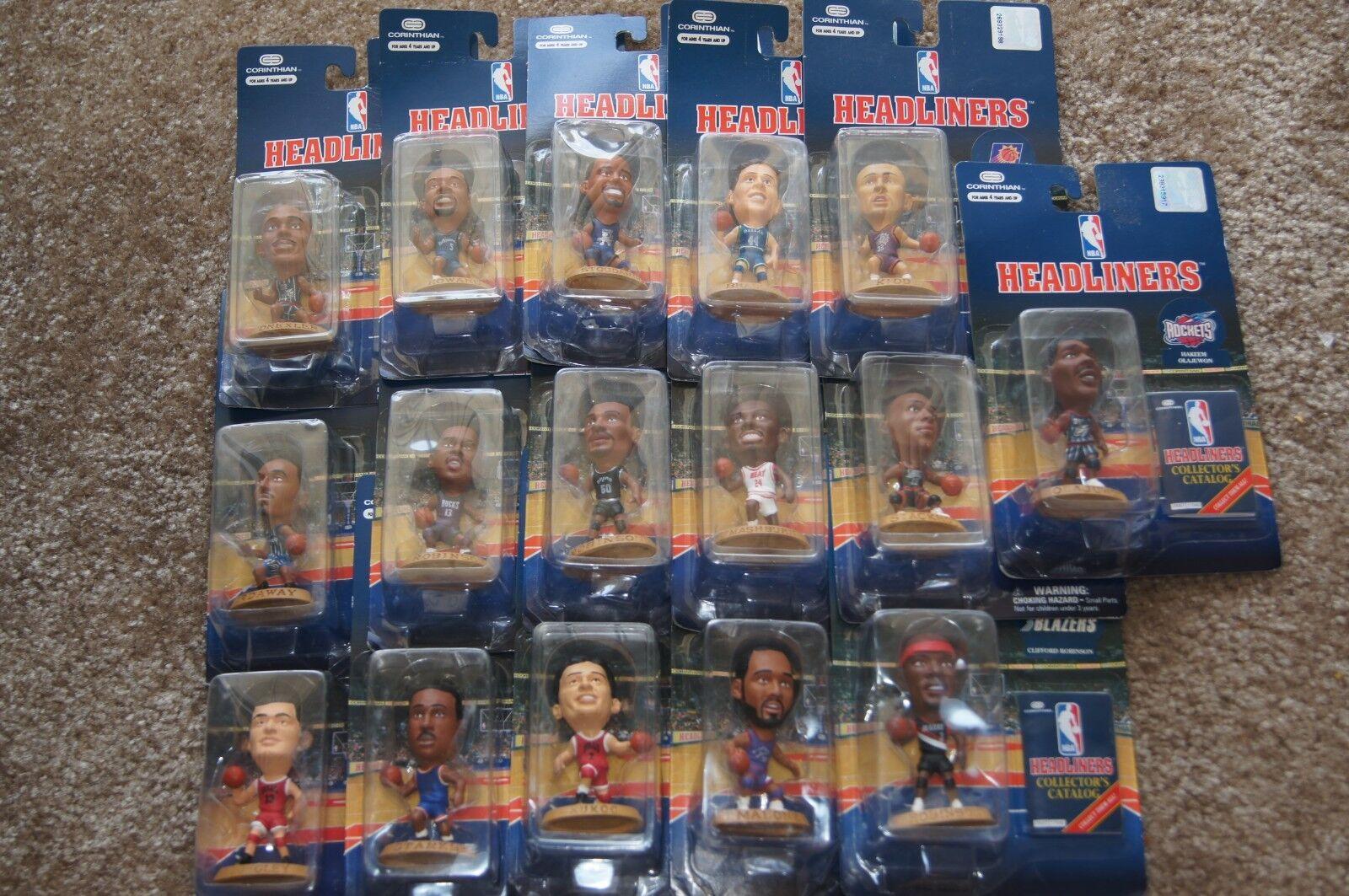 LOTTO di 16 NBA HEADLINERS azione cifra da collezione NBA TONY kukoc DREXLER