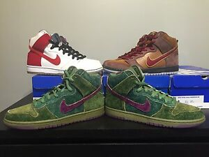 cheaper c472f 9be53 Details about Nike Dunk High SB Smokers Pack Skunk Cigar Cheech and Chong!  DS Brand New Size 9
