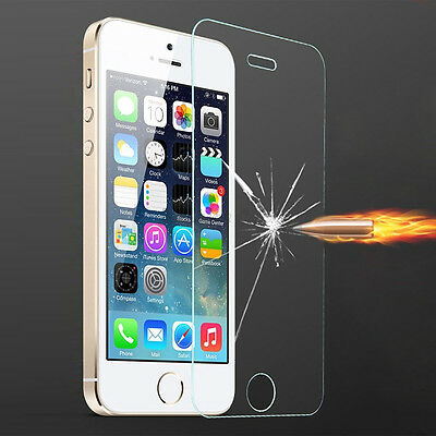 Fashion Clear Tempered Glass Screen Protector Film Cover For Apple Iphone 5 5S