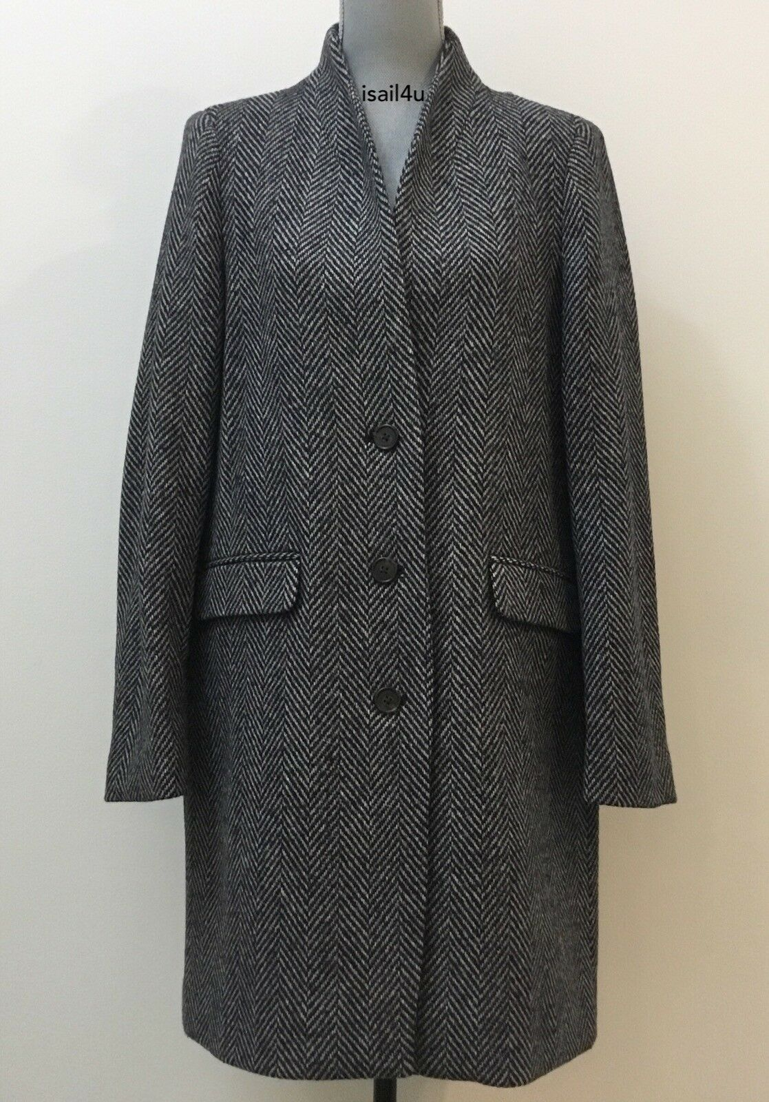 J.Crew Oversized Topcoat In English Herringbone Wool NWT Size  6 10 12 14