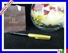penna stilografica aurora 88 in oro placcata con pennino in oro