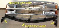 94 98 Chevy Gmc Truck 3pc Center Bumper Filler & Extension Kit 95 96 97 99 00