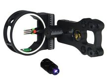 3 pin Bow sight - fiber,brass pin, aluminum machined w/light!