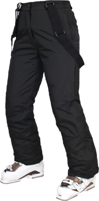 TRESPASS THERM TP50 LADIES SKI SNOWBOARD PANTS SALOPETTES BLACK BNWT LGE XL