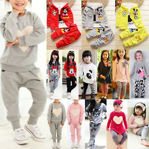a30904f35202 2 3Pcs Toddler Kids Baby Girls Winter Outfits Set Long Sleeve T ...
