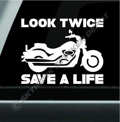 Think Bike Car Sticker Funny Bumper Safety Awareness Window JDM Sticker Vinyl