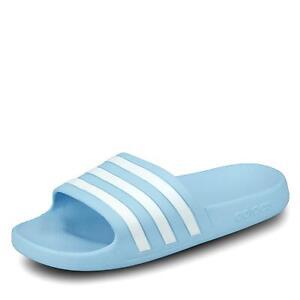 Adidas Zu Adilette Schuhe Details Aqua Hellblau Damen