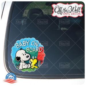 Baby-Snoopy-Dog-amp-Friend-034-BABY-ON-BOARD-034-Vinyl-Car-Decal-Sticker