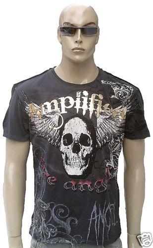Biker Amplified Saint & Sinners Rock Star Strass Tatuaggio Vip T-Shirt XL XXL 56