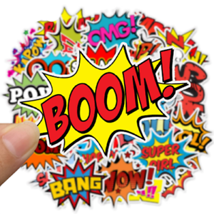 50-Cartoon-comic-Hero-StickerBomb-Pegatina-Sticker-Mix-Decals-Marvel-phone-Boom