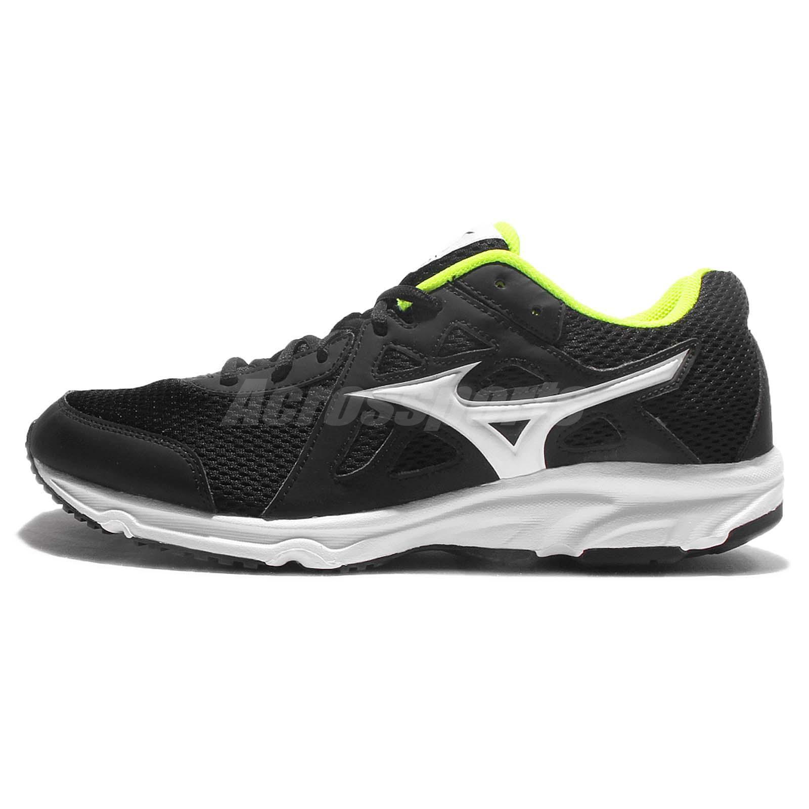 Mizuno Spark 2 Black Yellow White Men Running Shoe Sneakers Trainers K1GA1703-01