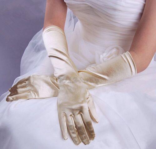 Charm Lady Satin Long Opera Wedding Bridal Evening Party Costume Gloves Vy