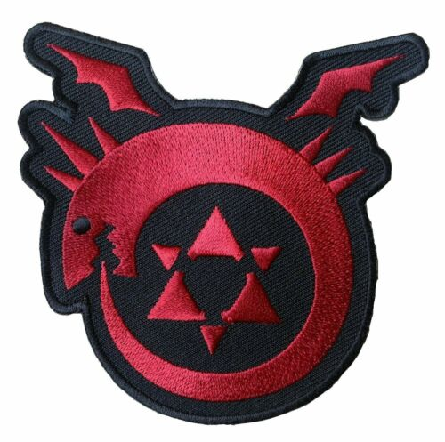 Anime Manga FMA Full Metal Alchemist Badge Embroidered Patch Sew//Iron on 9cm