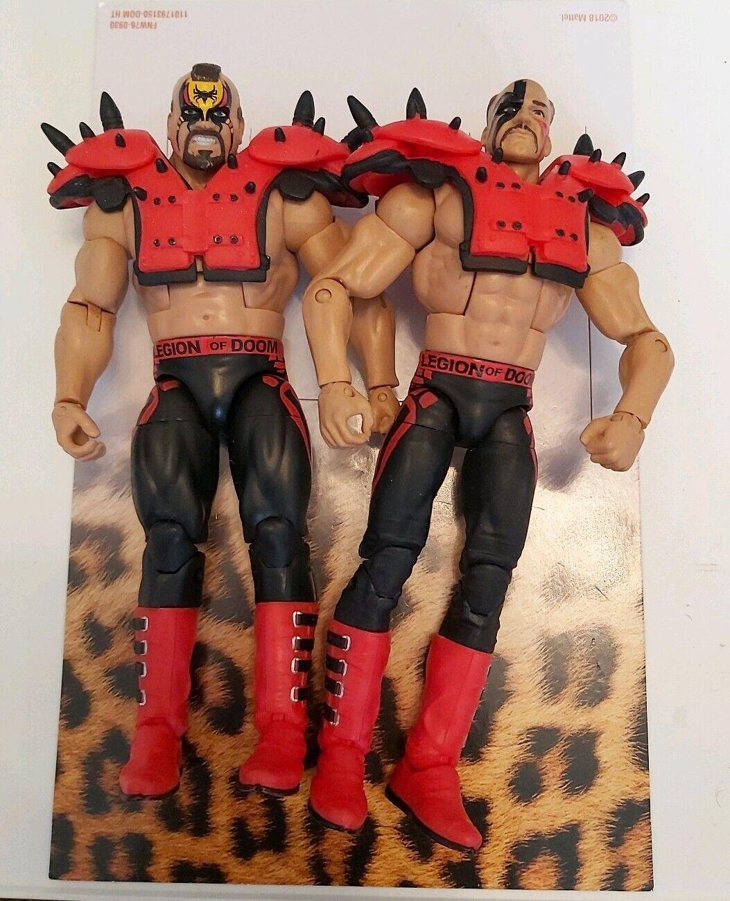 WWE lucha libre figura Mattel elite legión de Doom Hawk & Animal