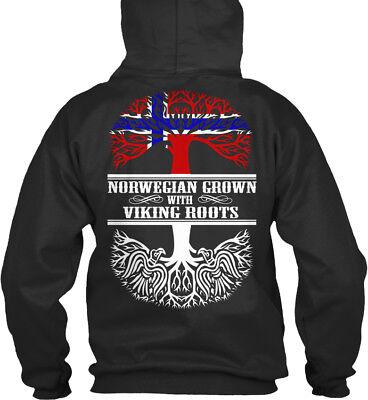 Das Beste Norwegian Grown With Viking Roots - Bequemer Kapuzenpullover Ideales Geschenk FüR Alle Gelegenheiten